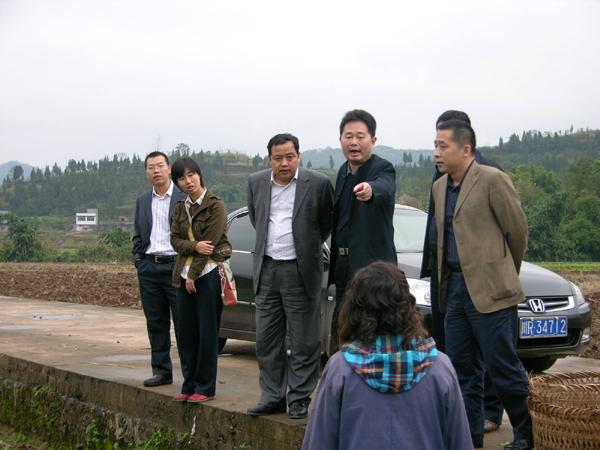 时任农业部科技发展中心主任刘平视察我院潆溪综合试验基地